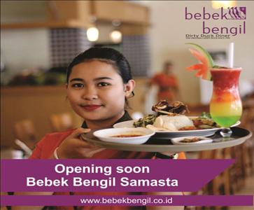 Opening Soon Bebek Bengil Samasta Jimbaran